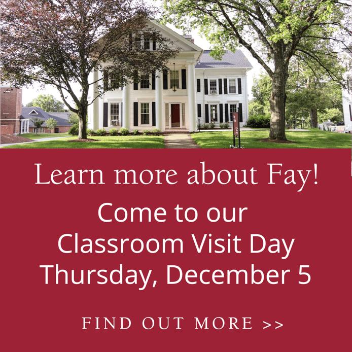 December Classroom Visit Day