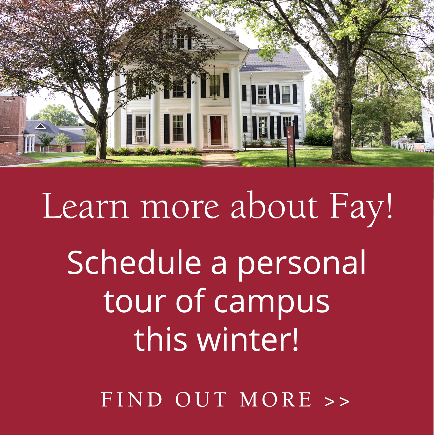 Schedule a Campus Visit this winter